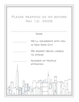 Graduation Response Card