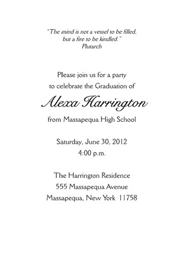card sample invitation party