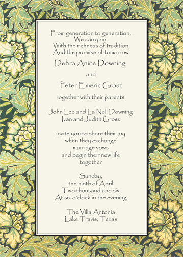 Return to main Jewish Wedding Invitations Page