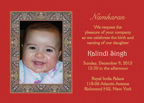 Namkaran Baby Naming Invitations – Naming Ceremony Invitation Template