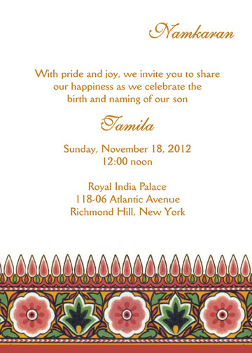 Namkaran Invitation