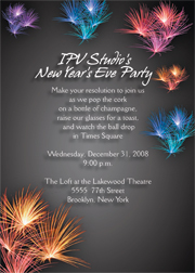 new year's eve party invitations, Party invitations