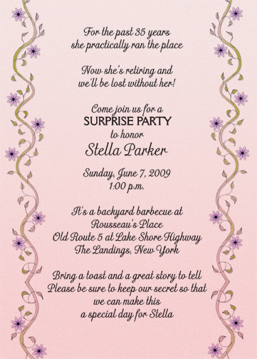 Retirement Party Invitation Wording  GangcraftNet