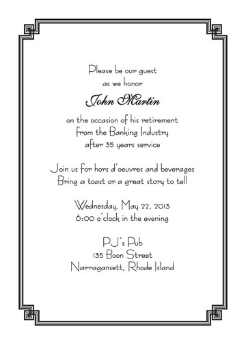Personalized Retirement Party Invitations  Rpit Fancy