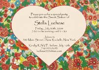 Spring Theme Invitation
