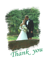Just Married Thank You Note Card