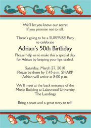 surprise party invitations, Party invitations