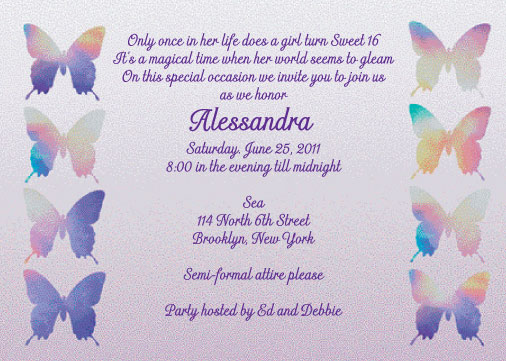 Examples Of Sweet 16 Party Invitation orderecigsjuiceinfo – Spanish Party Invitations