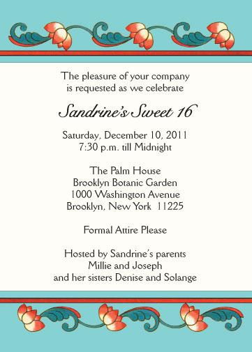Example invitation birthday party sweet seventeen invitationswedd sweet sixteen invitation style sw16 17 stopboris Gallery