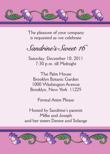 Sweet Sixteen Invitation Style sw1618