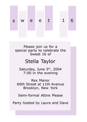 Sweet 16 Invitations, Sweet Sixteen Party Invitations