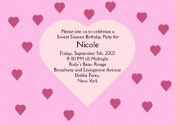 Sweet 16 Invite, Sweet Sixteen Party Invitation