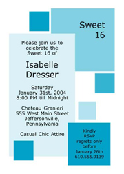 Sweet 16 Invites, Sweet Sixteen Party Invitations