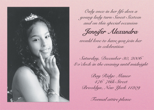 Nice Sweet 16 Party Invitation Cards orderecigsjuiceinfo