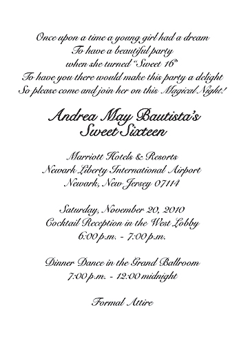 Sweet 16 Invitation Wording Orderecigsjuice Info
