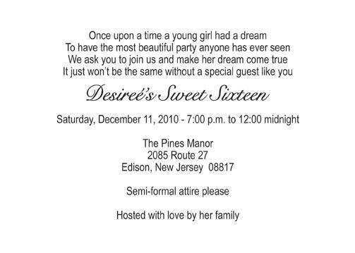 Sweet Sixteen Invitation Style 5