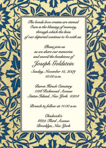 Unveiling of tombstone invitation wording unveiling of tombstone invitation wording is cool layout to create altavistaventures Images