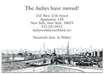 New Address Moving Card