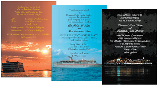Cruise Party Invitations