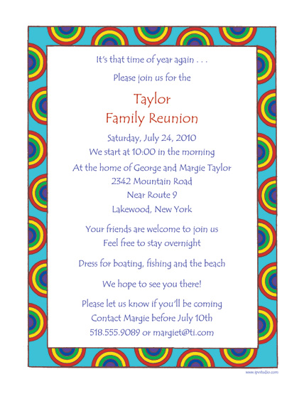 Family Reunion Invitations – Reunion Party Invitations