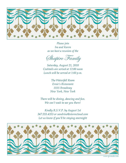 Family Reunion Template FRT03 – Reunion Party Invitations