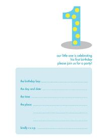 Children's Birthday Party Invitation - KBIF-03