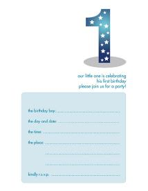 Children's Birthday Party Invitation - KBIF-04
