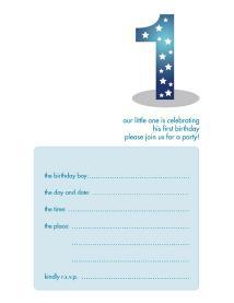 Children's Birthday Party Invitation - KBIF-04