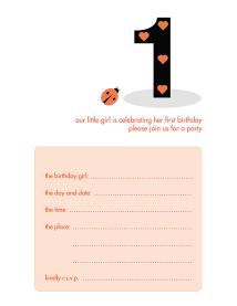 Children&#039;s Birthday Party Invitation - KBIF-07