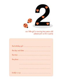 Children's Birthday Party Invitation - KBIF-08