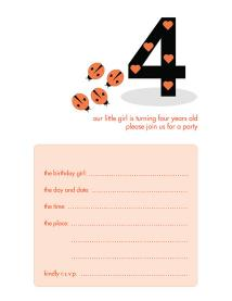 Children&#039;s Birthday Party Invitation - KBIF-10