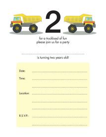 Children's Birthday Party Invitation - KBIF-12