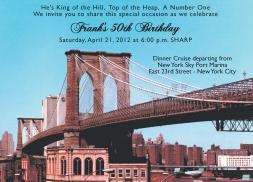 New York City Theme Party Invitation