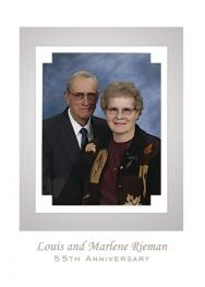 55th Wedding Anniversary Party Invitation