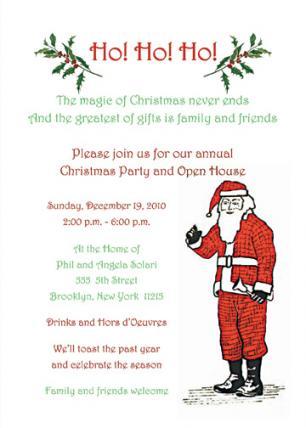 Christmas Party Invitation, CPIT-01