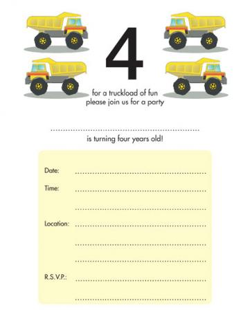 Children&amp;#039;s Birthday Party Invitation - KBIF-14