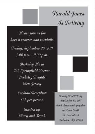 Retirement Party Invitation - RPIT-13_5x7