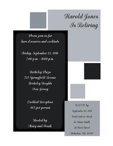 Retirement Party Invitation - RPIT-13