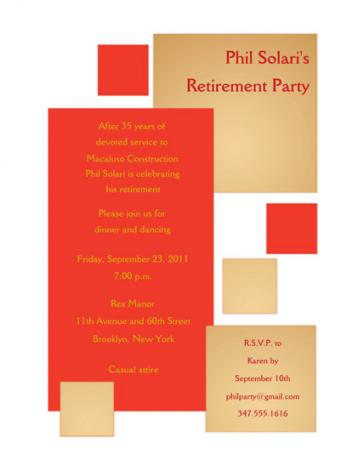 Retirement Party Invitation - RPIT-18