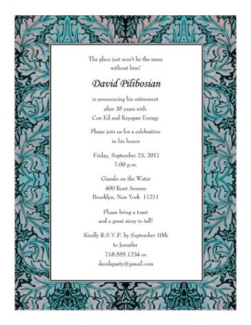 Retirement Party Invitation - RPIT-20