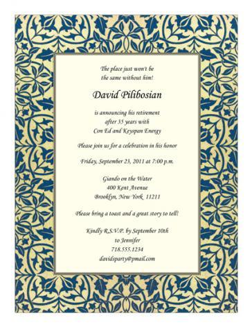 Retirement Party Invitation - RPIT-21