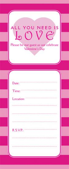 Valentines Day Party Invitation, VPIT-01_No10