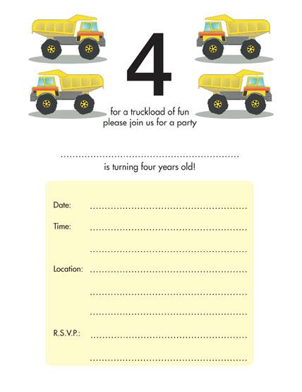 Templates – Toddler Birthday Invitation Templates