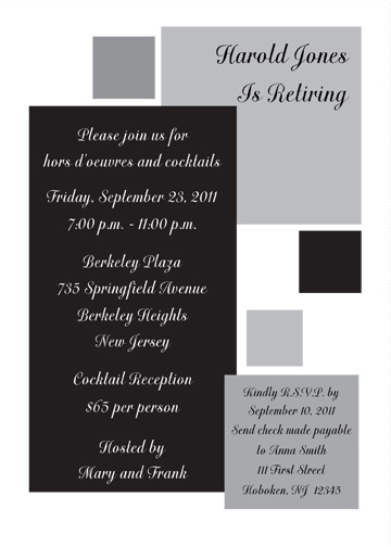 Retirement Party Invitation  RpitX