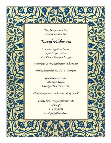 Retirement Party Invitation - RPIT-19