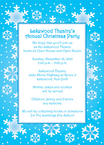 Sample Holiday Invitation. Frost Christmas Party Invite Template ...