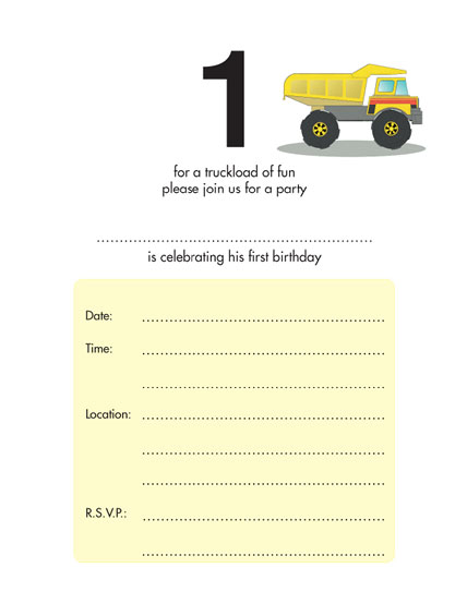 Birthday Party Invitation KBIF - Birthday invitation templates for 1 year old