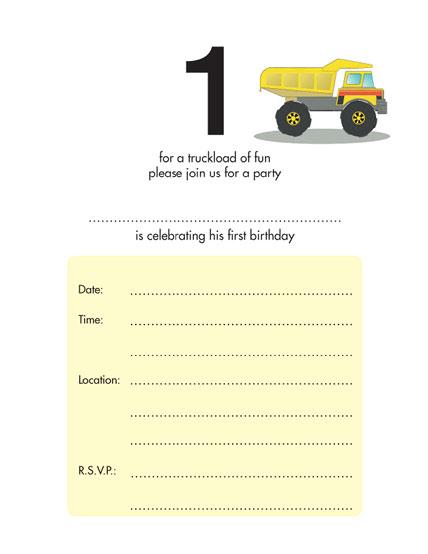 Birthday Party Invitation KBIF - Birthday invitation templates for 1 year old