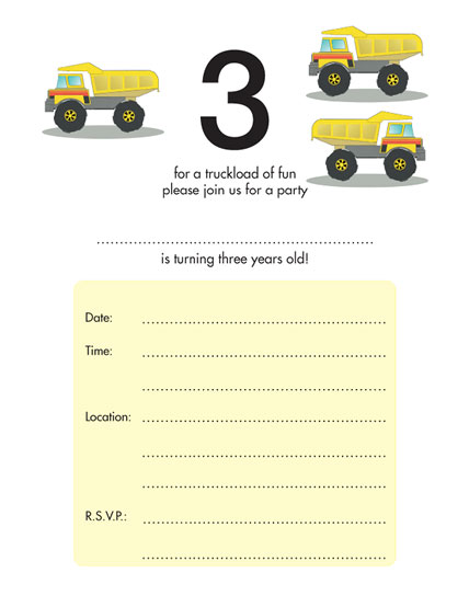 Birthday Party Invitations for Children