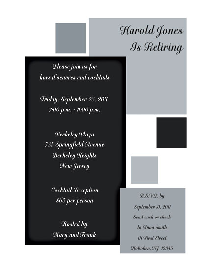 Party Invitation RPIT13 – Retirement Party Invitation Template